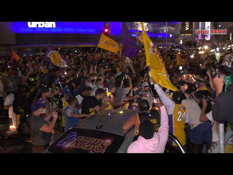 Lakers Fan Celebrate Championship Win 2020 Chanting Kobe at Staples Center