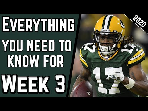 EVERYTHING You NEED to KNOW Before Week 3 | Injuries & WR/CB Matchups | 2020 Fantasy Football