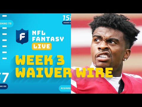 Week 3 Waiver Wire: Who to Pick Up & Drop, Top 3 Best Players Available | NFL Fantasy Live