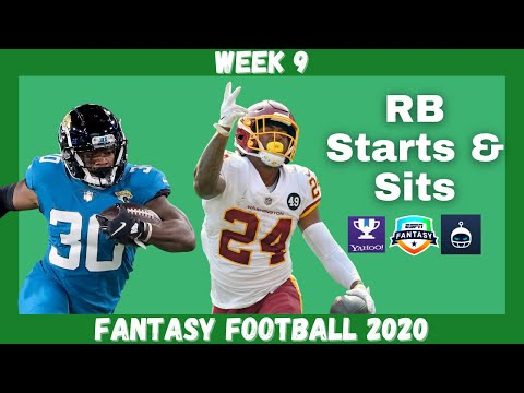 Fantasy Football 2020 | Week 9 RB Starts & Sits Every Matchup