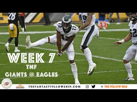 2020 Fantasy Football – Week 7 TNF – Giants @ Eagles