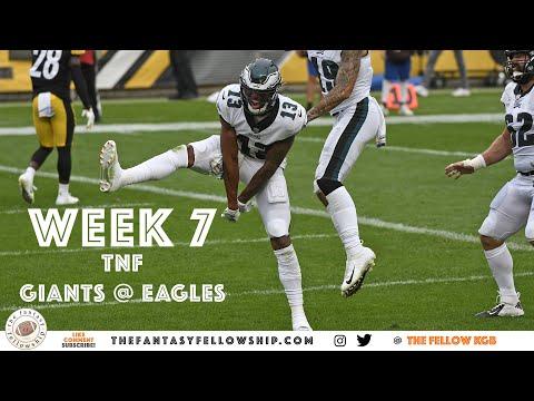 2020 Fantasy Football – Week 7 TNF – Giants @ Eagles