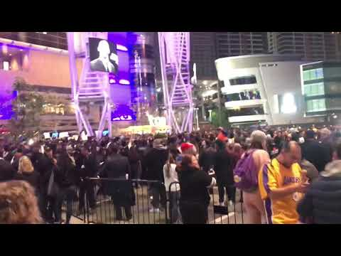 Remembering Kobe Fans Chant MVP Outside Staples Center Thousands Gather To Pay Respect To Legend