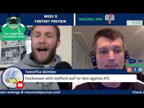 NFL Week 9 Fantasy Football Preview Show: Fantasy Trade Deadline Tips + Fantasy News
