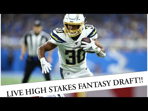 Fantasy Football 2020 – High Stakes Live Draft  (not a mock real deal action)