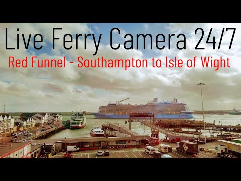 Ferry Cam – Southampton to Cowes Isle of Wight Red Funnel Ferry Live Camera 24/7