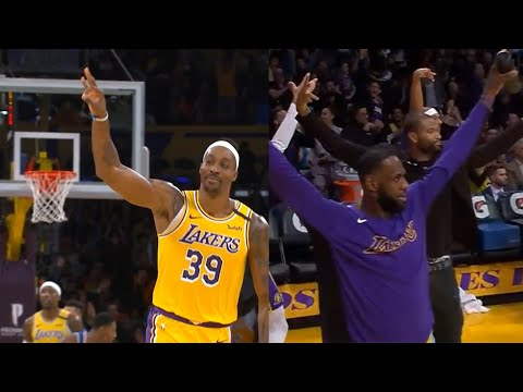 Dwight Howard drains a three pointer | Lakers vs Knicks