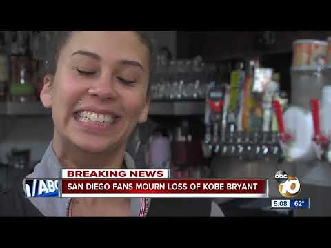San Diego fans mourn the loss of Kobe Bryant