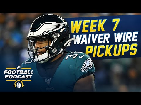 Week 7 Waiver Wire Pickups (2020 Fantasy Football)