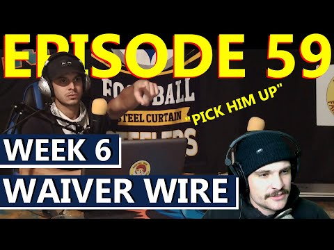 Who to Add via Waiver Wire in NFL Week 6 | Fantasy Football | Season 3 Episode 59