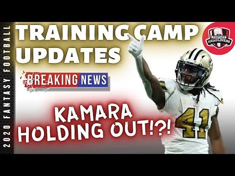 2020 Fantasy Football Advice – Training Camp Updates – Alvin Kamara Holdout?