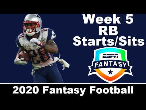 2020 Fantasy Football – Week 5 RB Starts/Sits