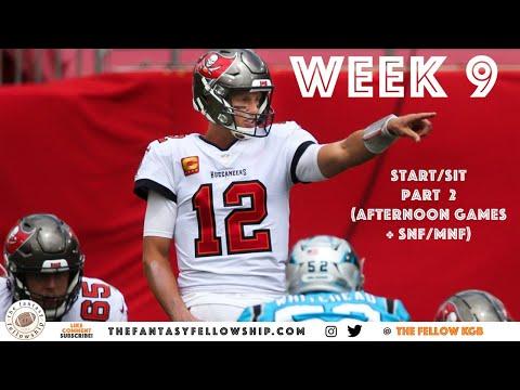 2020 Fantasy Football – Week 9 Start/Sit Part 2