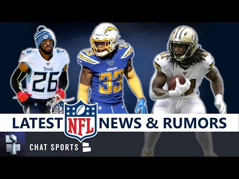 NFL News & Rumors: Logan Ryan Signs, Alvin Kamara Out? Derwin James Injury, Leonard Fournette Latest
