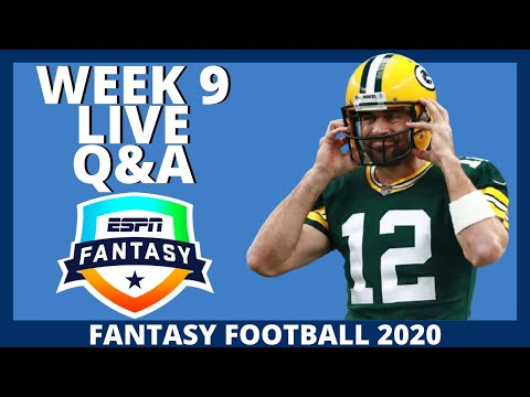 2020 Fantasy Football – Week 9 Live Q&A – Fantasy Football Advice