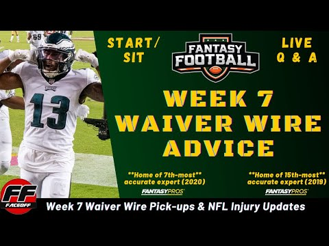 Week 7 Waiver Wire Pickups for Fantasy Football + NFL Injuries + ASK YOUR LINEUP QUESTIONS