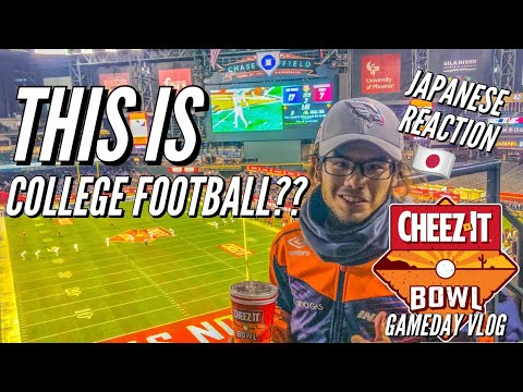 JAPANESE REACTION TO COLLEGE FOOTBALL | CHEEZ-IT BOWL GAMEDAY VLOG