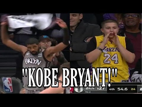 "Kyrie Irving leads ""Kobe Bryant"" chants at Barclays Center"