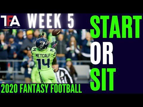 Week 5 Fantasy Football Start or Sit| 2020 Fantasy Football Rankings