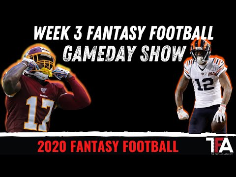 NFL Week 3 Gameday Show | 2020 Fantasy Football
