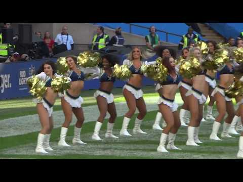 Cheerleaders – The Charger Girls – NFL at Wembley 2018