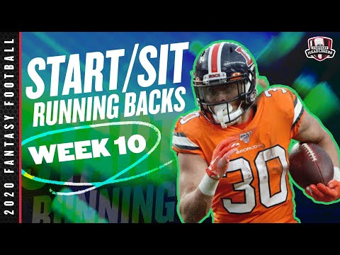 2020 Fantasy Football Advice – Week 10 Running Backs – Start or Sit? Every Match Up