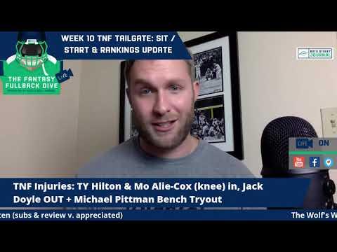 TNF Tailgate: Fantasy Football Sit / Start & Rankings Update Show