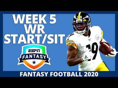 2020 Fantasy Football – Week 5 Wide Receivers – Start or Sit (Every Match Up)