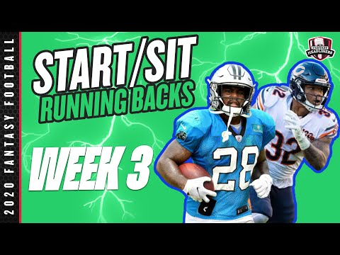 2020 Fantasy Football – Week 3 Running Backs – Start or Sit? Every Match Up