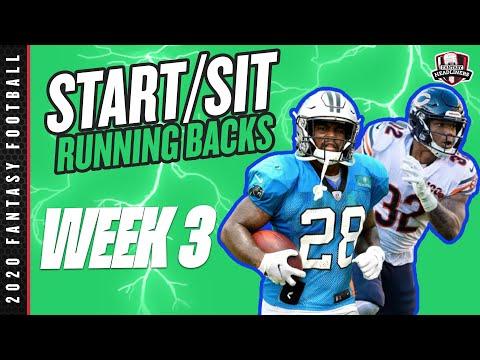 2020 Fantasy Football – Week 3 Running Backs – Start or Sit? Every Match Up