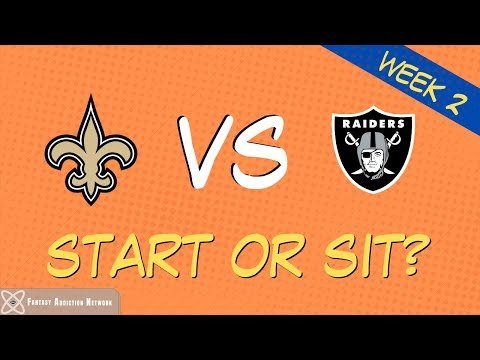 Fantasy Football Start Sit Saints vs Raiders – WEEK 2 GAME PREVIEW