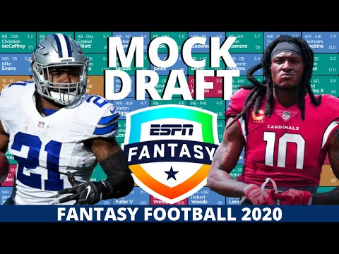 2020 Fantasy Football Mock Draft (Half-PPR) – 10 Team- Pick 3