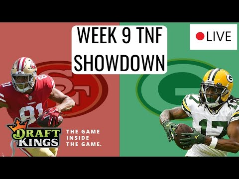 LIVE DRAFTKINGS TNF SHOWDOWN ANALYSIS (49ERS/PACKERS) | DFS PICKS