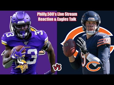 Vikings VS Bears | Eagles Talk | Live Stream Reactions
