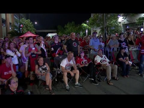 RAW: 'Canes fans erupt for double-overtime Game 7 winner