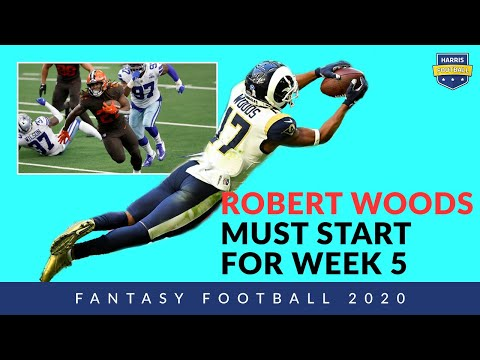 Must Start Robert Woods & Week 5 Fantasy Football DraftKings Picks, NFL DFS on Harris Football