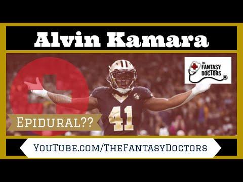 Alvin Kamara had an epidural!