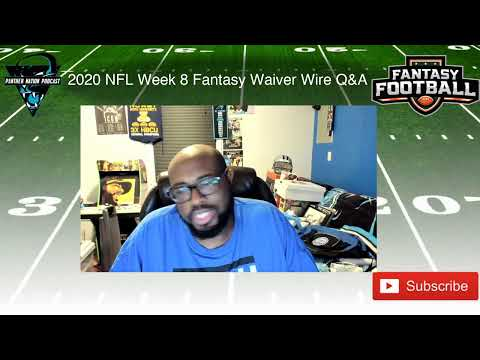 PNP Fantasy Waiver Wire Q&A 2020 NFL Week 8