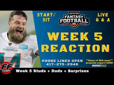NFL Week 5 Recap and Reaction + Fantasy Football Studs, Duds & Takeaways – ASK YOUR QUESTIONS