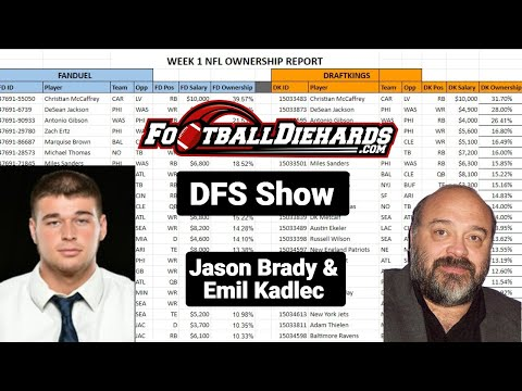 DFS NFL Lineups Picks, Tips & ownership Week 8 2020 Sunday