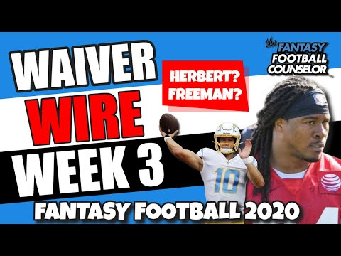Waiver Wire Week 3 – Fantasy Football 2020