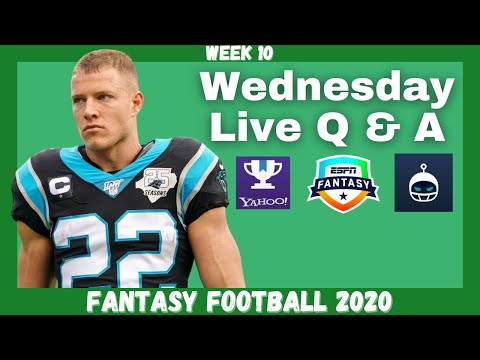 Fantasy Football 2020 | Week 10 Wednesday Q & A Live Stream