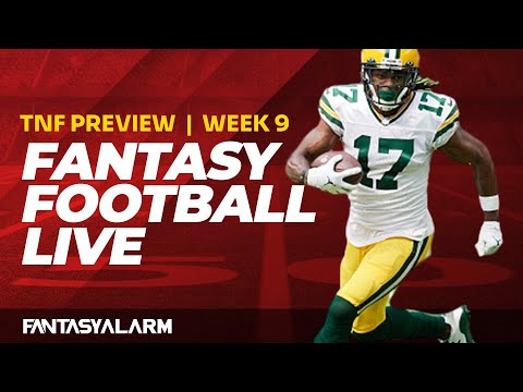 #FantasyFootball Live: #NFL Week 9 Thursday Night Football Preview with Jen Piacenti & Adam Ronis