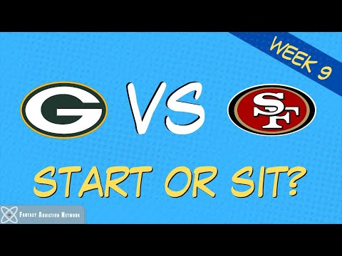 Fantasy Football Start Sit Packers vs 49ers – WEEK 9 GAME PREVIEW