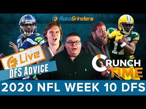 GRINDERSLIVE – 2020 WEEK 10 NFL DFS PICKS: ROTOGRINDERS