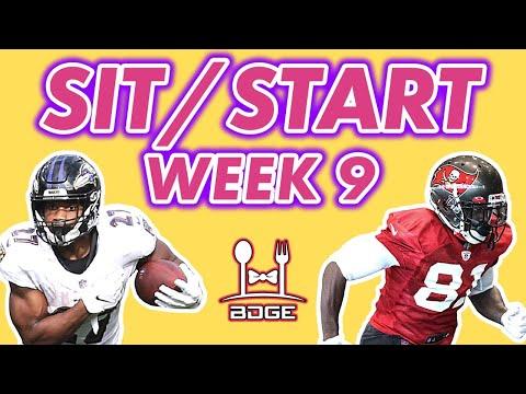 Fantasy Football Week 9 – Start/Sit Q&A!