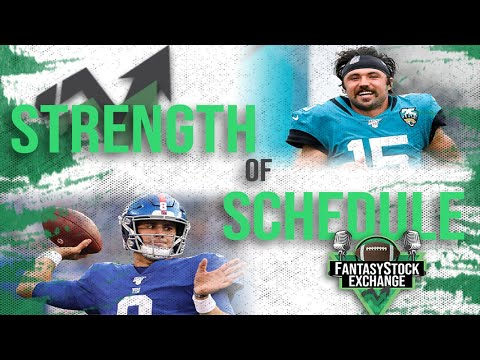 QB and TE Strength of Schedule – 2020 Fantasy Football