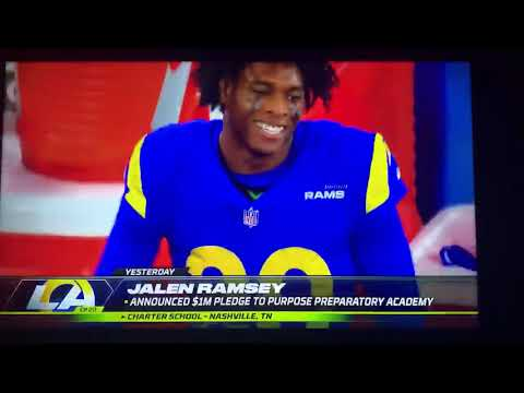 Monday Night Football Features Purpose Prep (Jalen Ramsey, LA Rams)