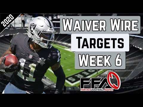 Top Waiver Wire Targets – Week 6 – 2020 Fantasy Football Advice