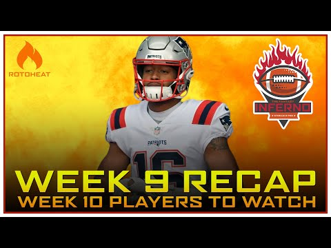 Week 9 Fantasy Football Recap, Who to Watch in Week 10 🏈